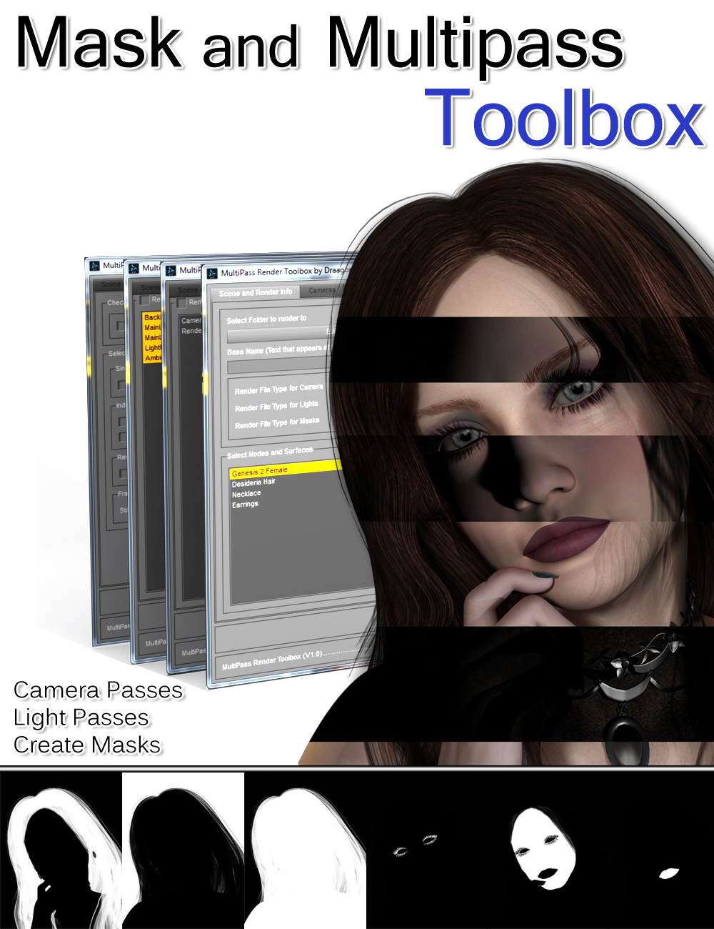 Mask and Multipass Toolbox by: DraagonStorm, 3D Models by Daz 3D