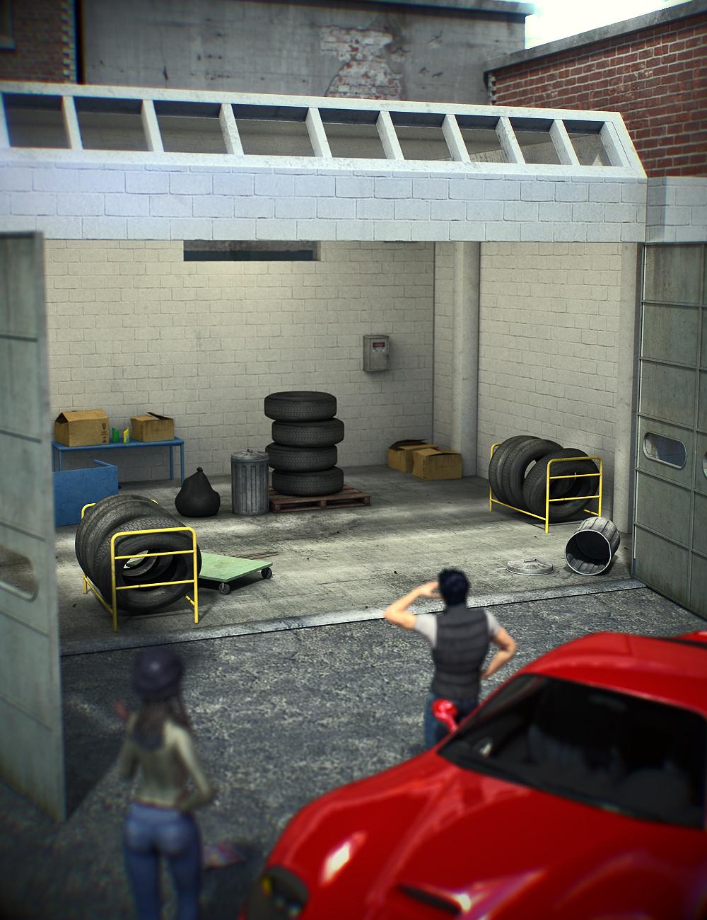 Garage Hideout by: Daz Originals, 3D Models by Daz 3D