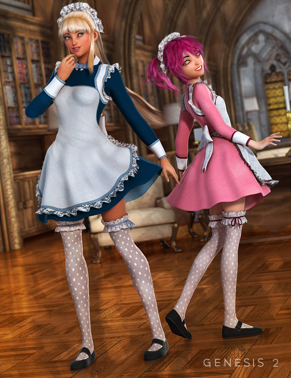 The Maid Outfit Textures by: Sarsa, 3D Models by Daz 3D