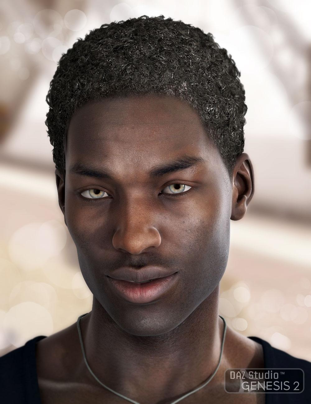 Omri Hair for Genesis 2 Male(s) by: AprilYSH, 3D Models by Daz 3D