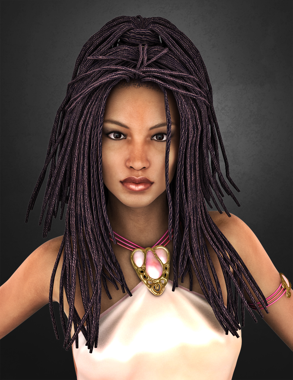 Medea Hair ADD-ON for Genesis 2 Female(s) and Victoria 4 by: SWAM, 3D Models by Daz 3D
