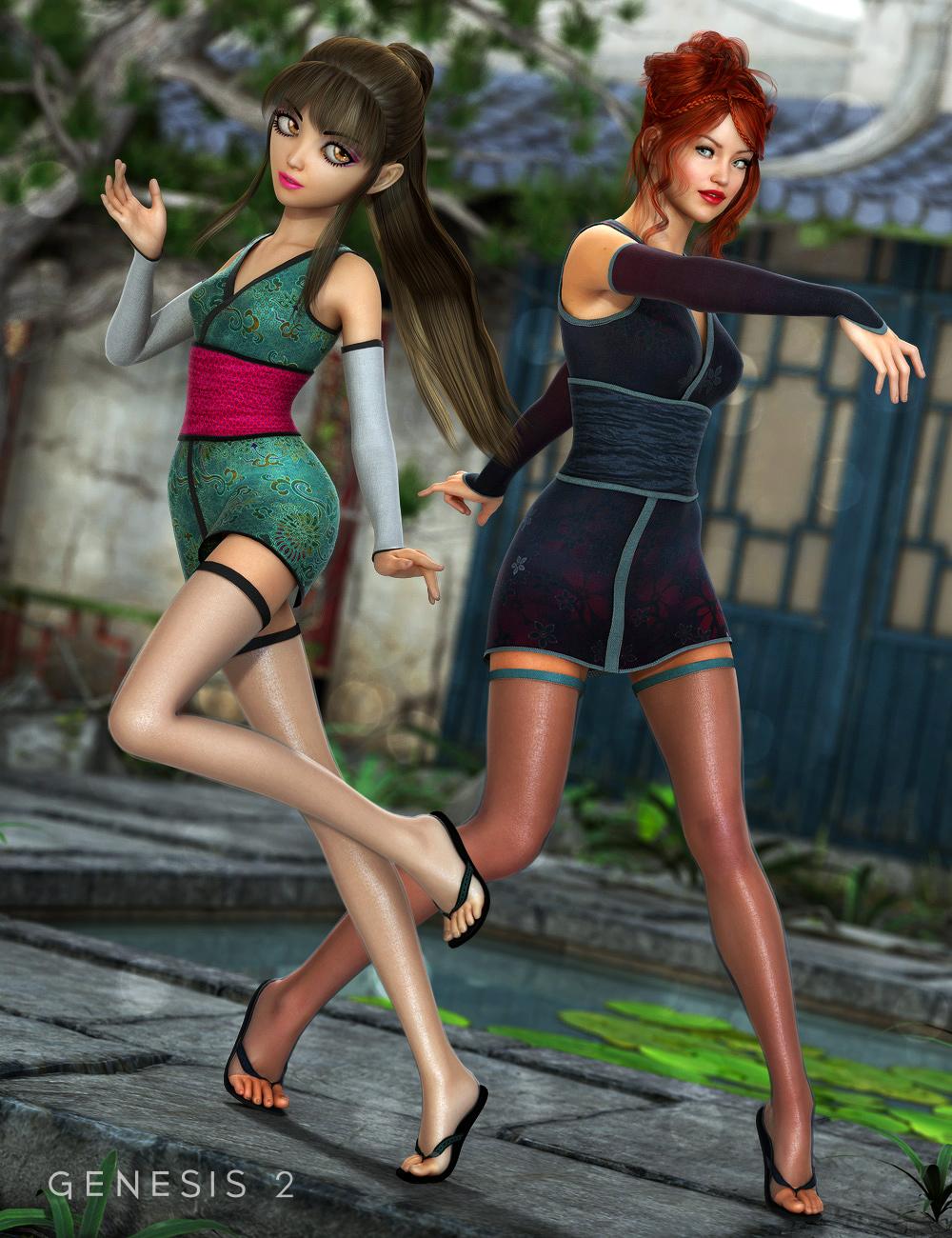 Shinobi Shozoku Textures by: Sarsa, 3D Models by Daz 3D