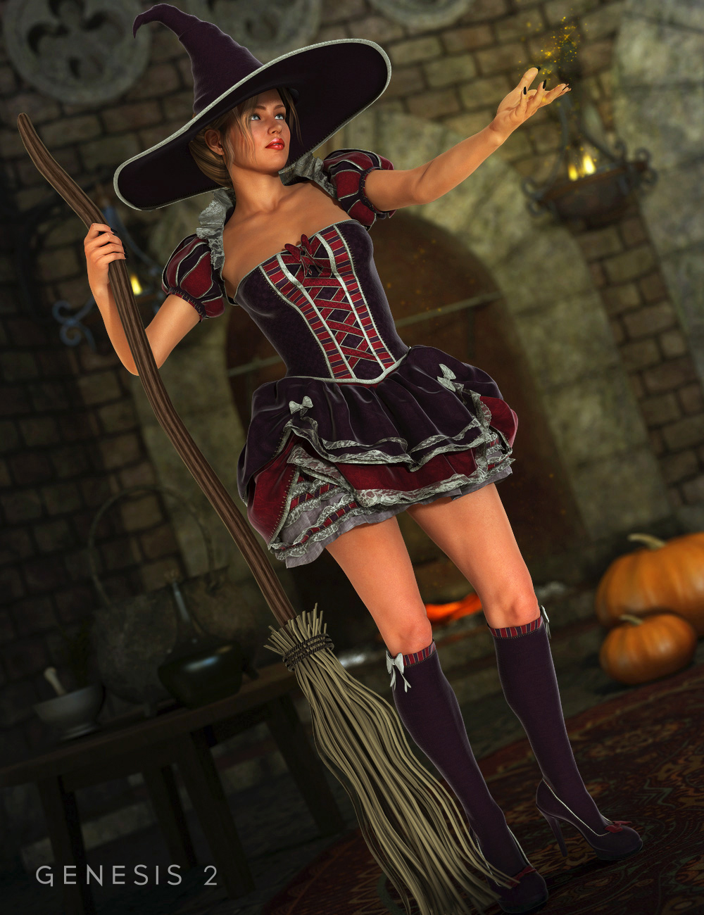 Storybook Outfit for Genesis 2 Female(s) by: Barbara BrundonSarsa, 3D Models by Daz 3D