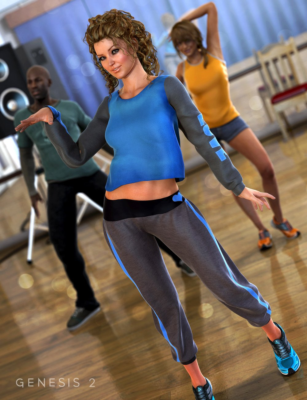 Swerve Outfit for Genesis 2 Female(s) by: Barbara BrundonEmilyPaige, 3D Models by Daz 3D