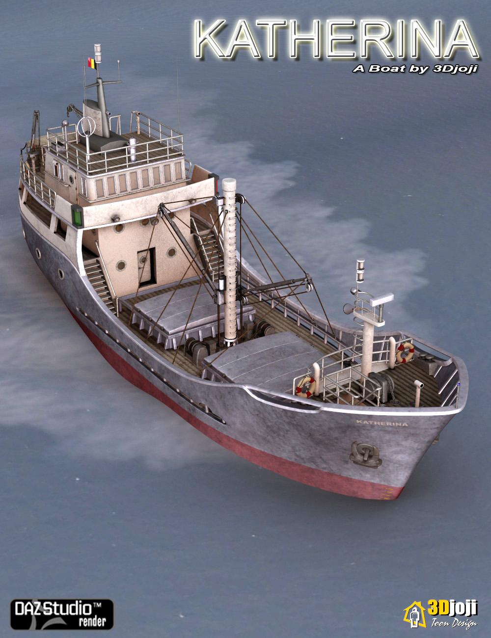 Katherina Boat by: 3djoji, 3D Models by Daz 3D