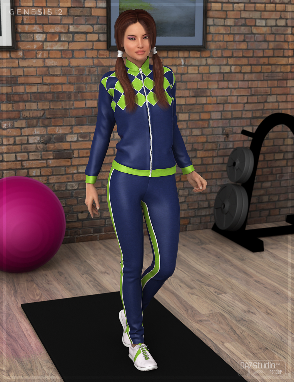 Textures for Pre Workout Outfit by: OziChick, 3D Models by Daz 3D
