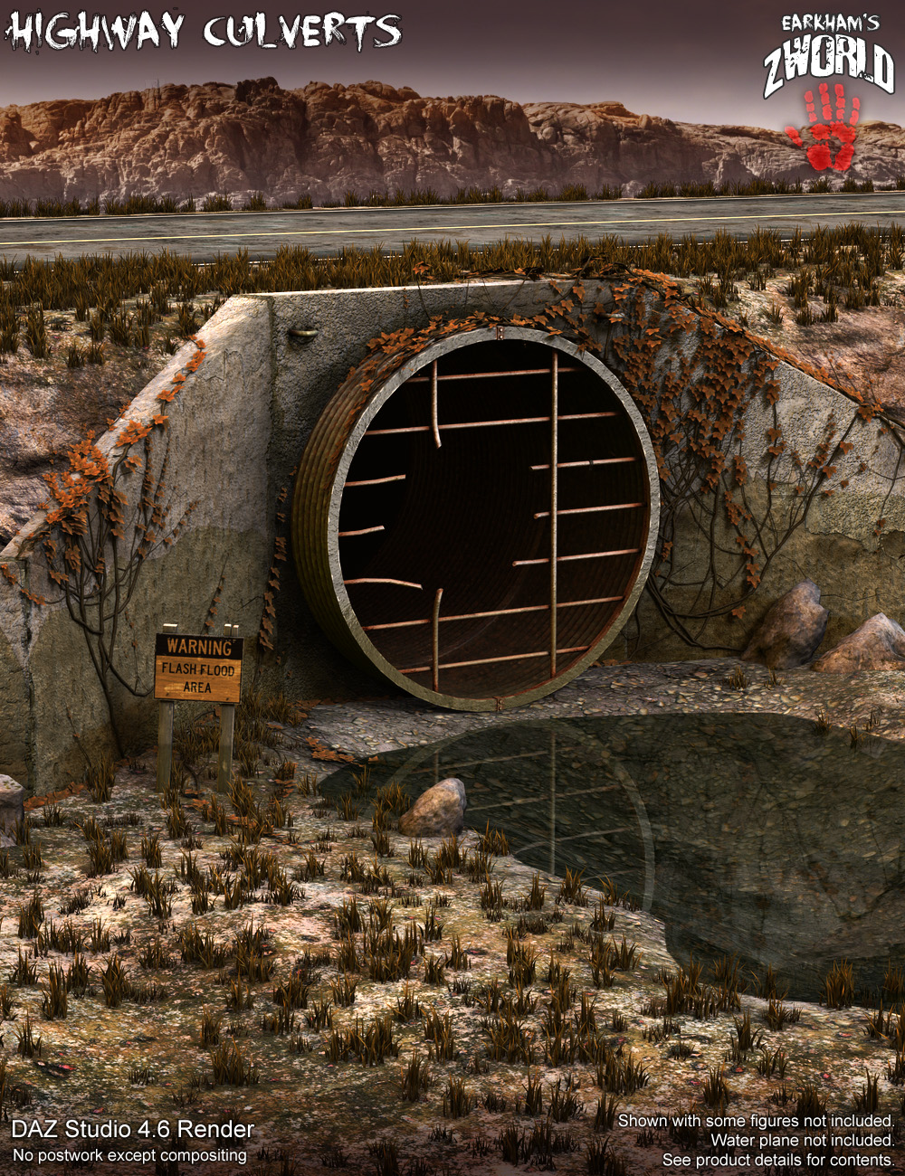 EArkham's ZWorld Highway Culverts by: E-Arkham, 3D Models by Daz 3D