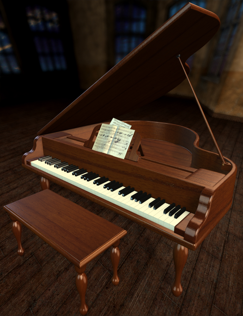 Toy Piano by: Thorne, 3D Models by Daz 3D