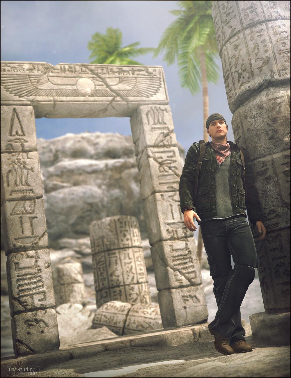 Ruins Of Egypt 01 by: Stonemason, 3D Models by Daz 3D