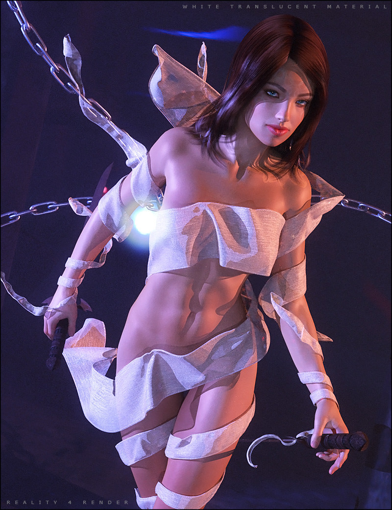 Fantasy Cloth Wrap for Genesis 2 Female(s) by: SHIFTING IMAGES, 3D Models by Daz 3D