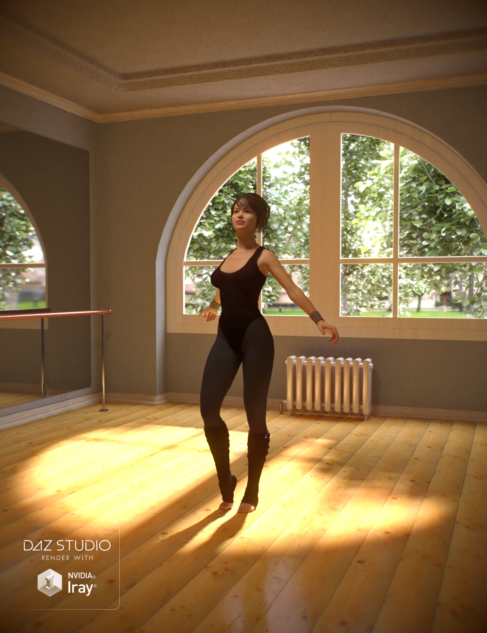 Dance Class Studio by: , 3D Models by Daz 3D