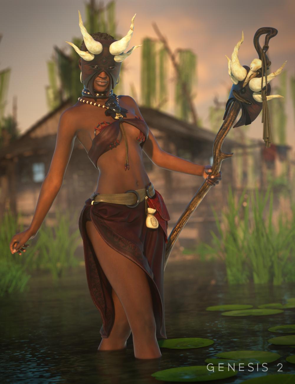 Tribal Dancer for Genesis 2 Female(s) by: ArienMada, 3D Models by Daz 3D