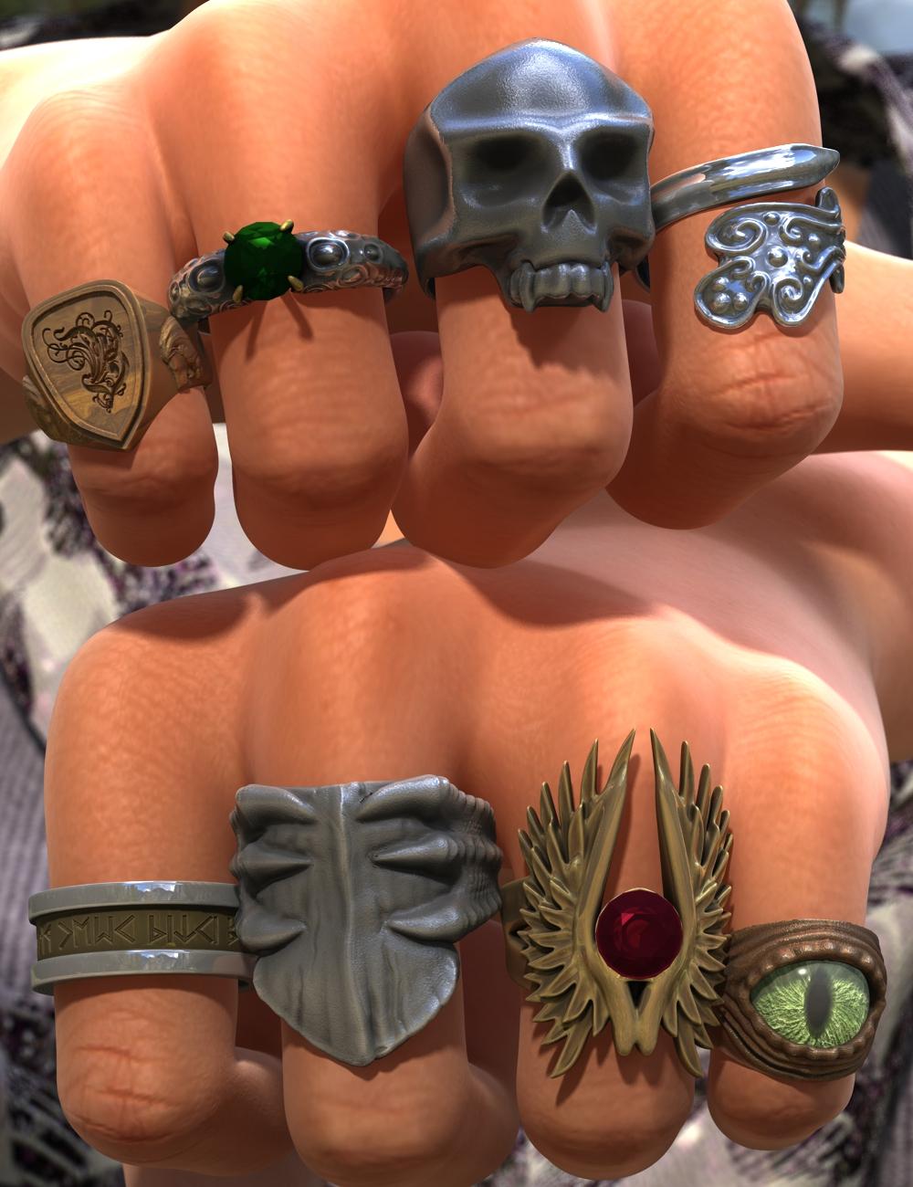Fantasy Rings for Genesis 2 Female(s)