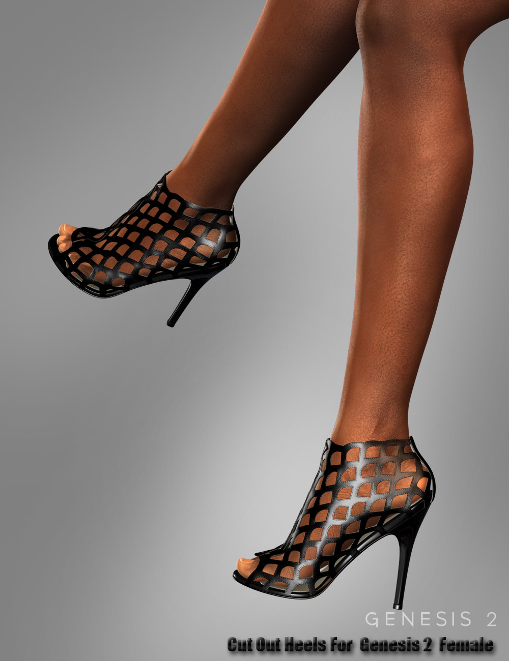 Cut Out Heels for Genesis 2 Female(s) by: dx30, 3D Models by Daz 3D