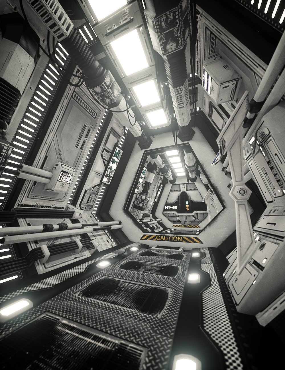 SS Marcoor Corridor by: Ravnheart, 3D Models by Daz 3D