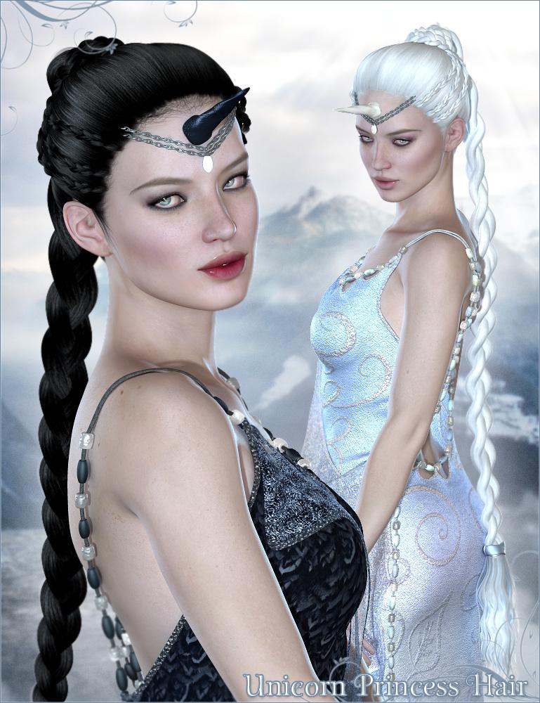 Unicorn Princess Hair by: Valea, 3D Models by Daz 3D