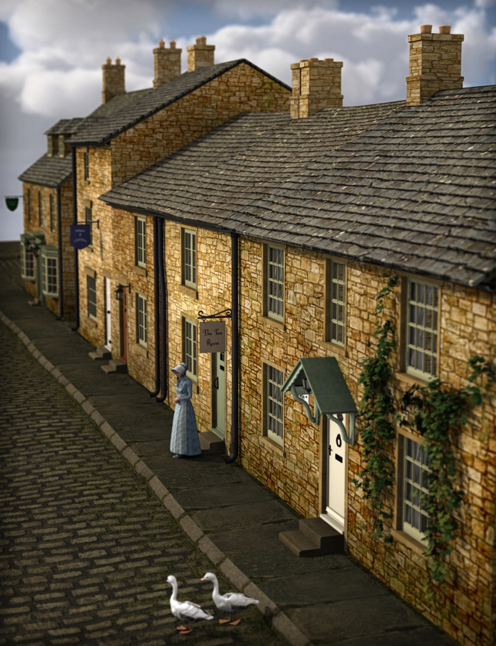 Build a Street: English Country Village by: Inkara, 3D Models by Daz 3D