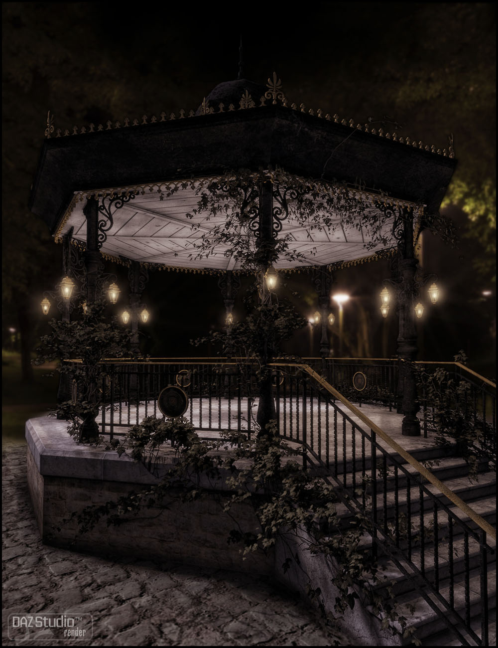 Exemplar for the Bandstand by: Jack Tomalin, 3D Models by Daz 3D