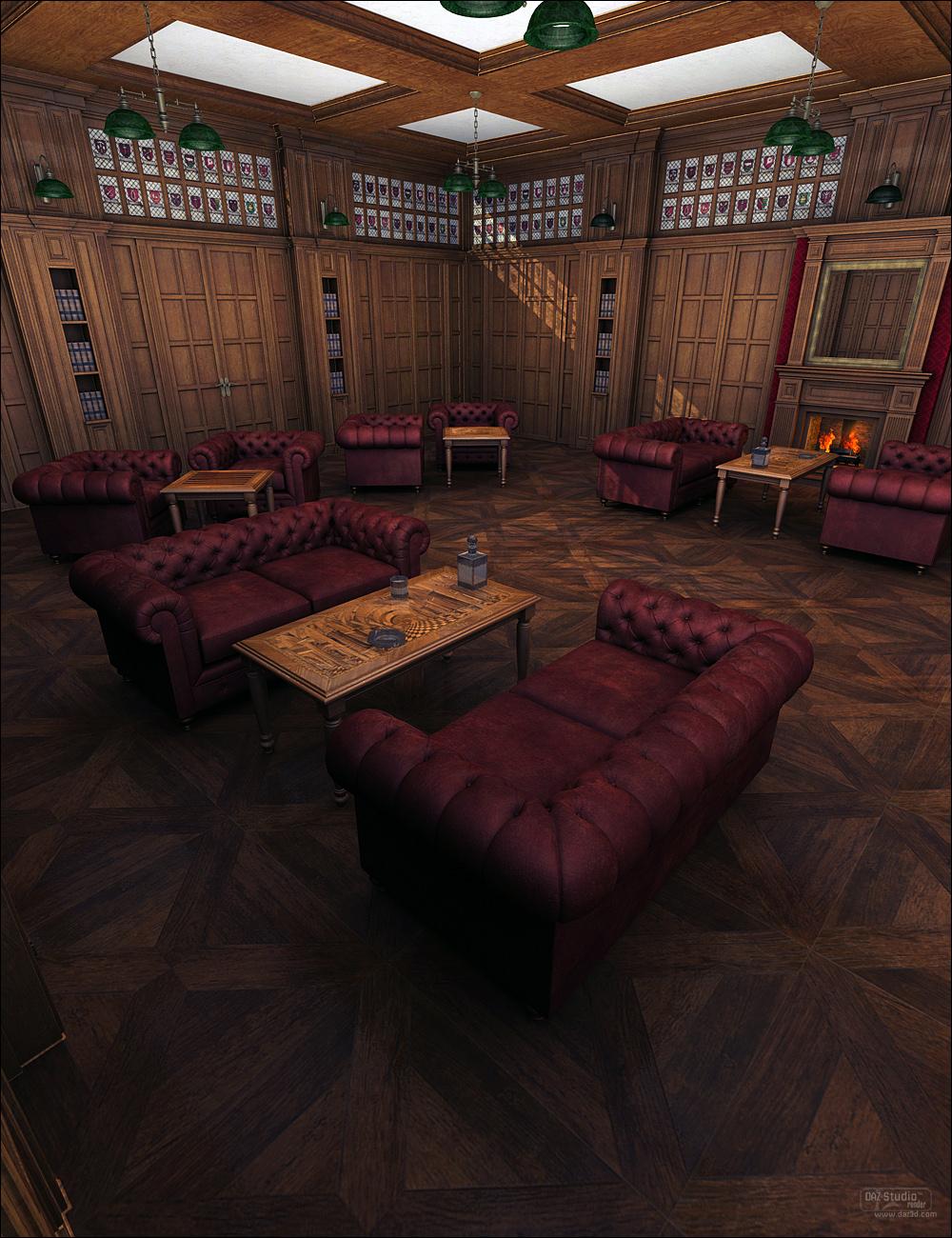 Gentlemen's Game Room by: ForbiddenWhispersFWDesign, 3D Models by Daz 3D