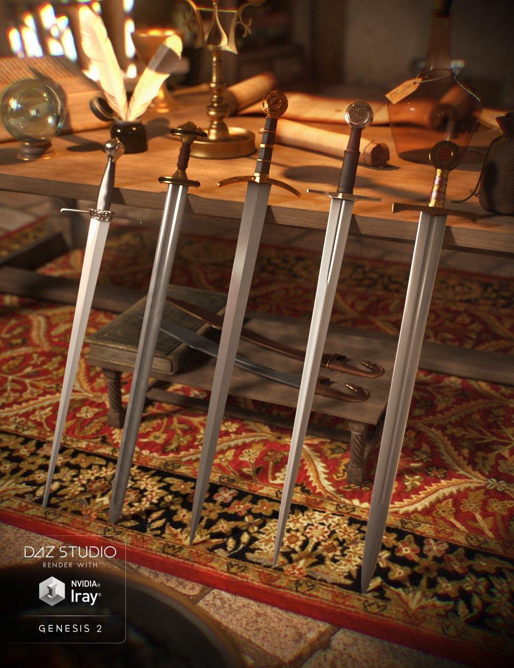 Swords of History by: Valandar, 3D Models by Daz 3D