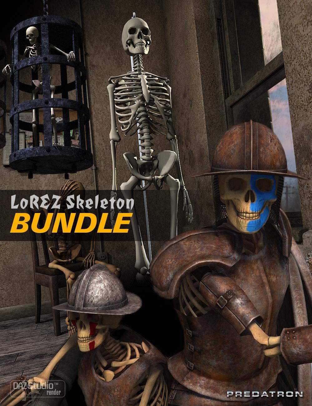 LoREZ Skeleton Bundle by: Predatron, 3D Models by Daz 3D