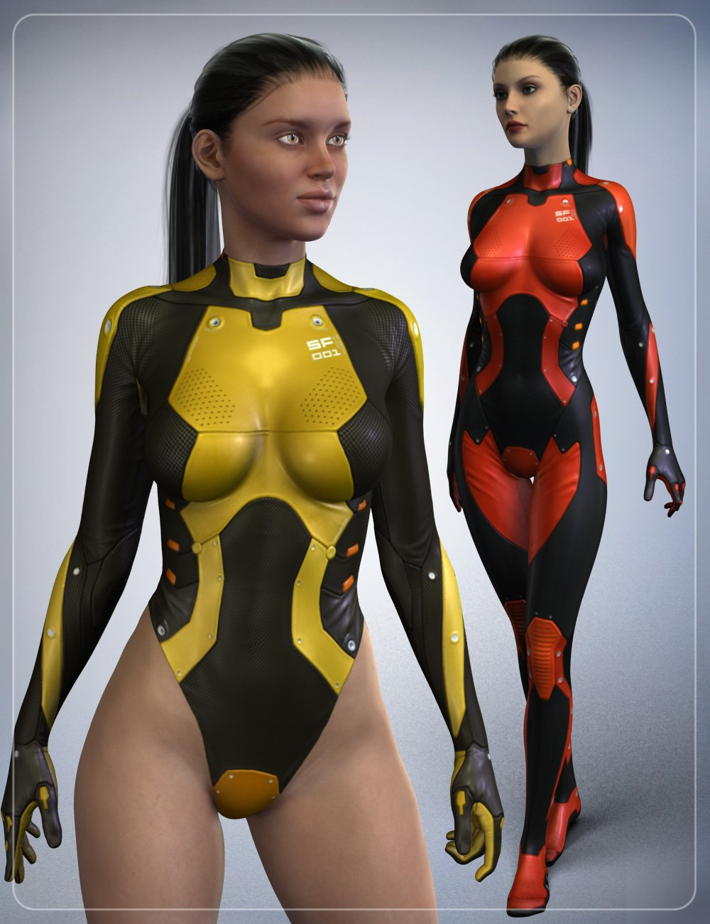 Sci-Fi Body Suit SF-001 by: smay, 3D Models by Daz 3D