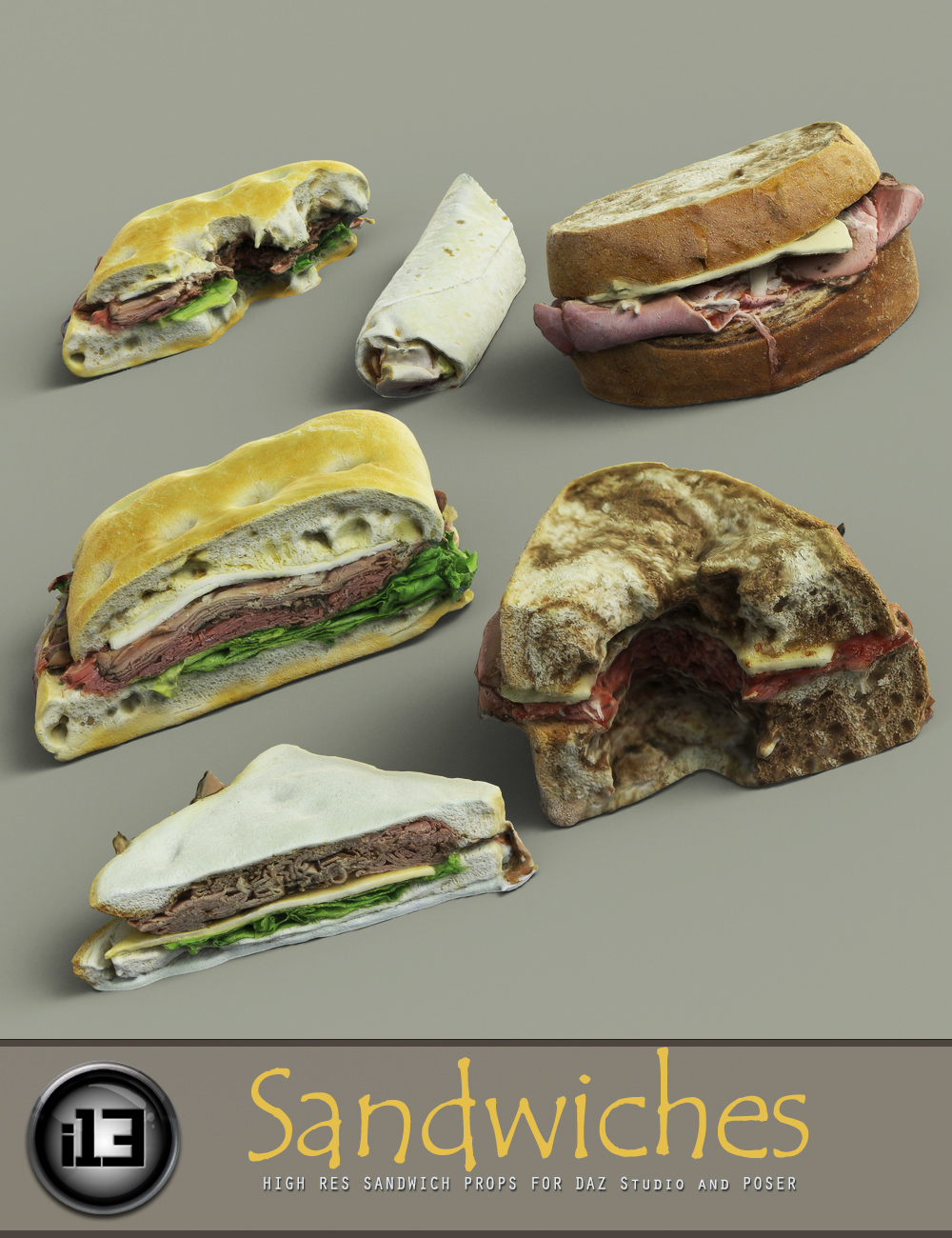 i13 Sandwiches by: ironman13, 3D Models by Daz 3D