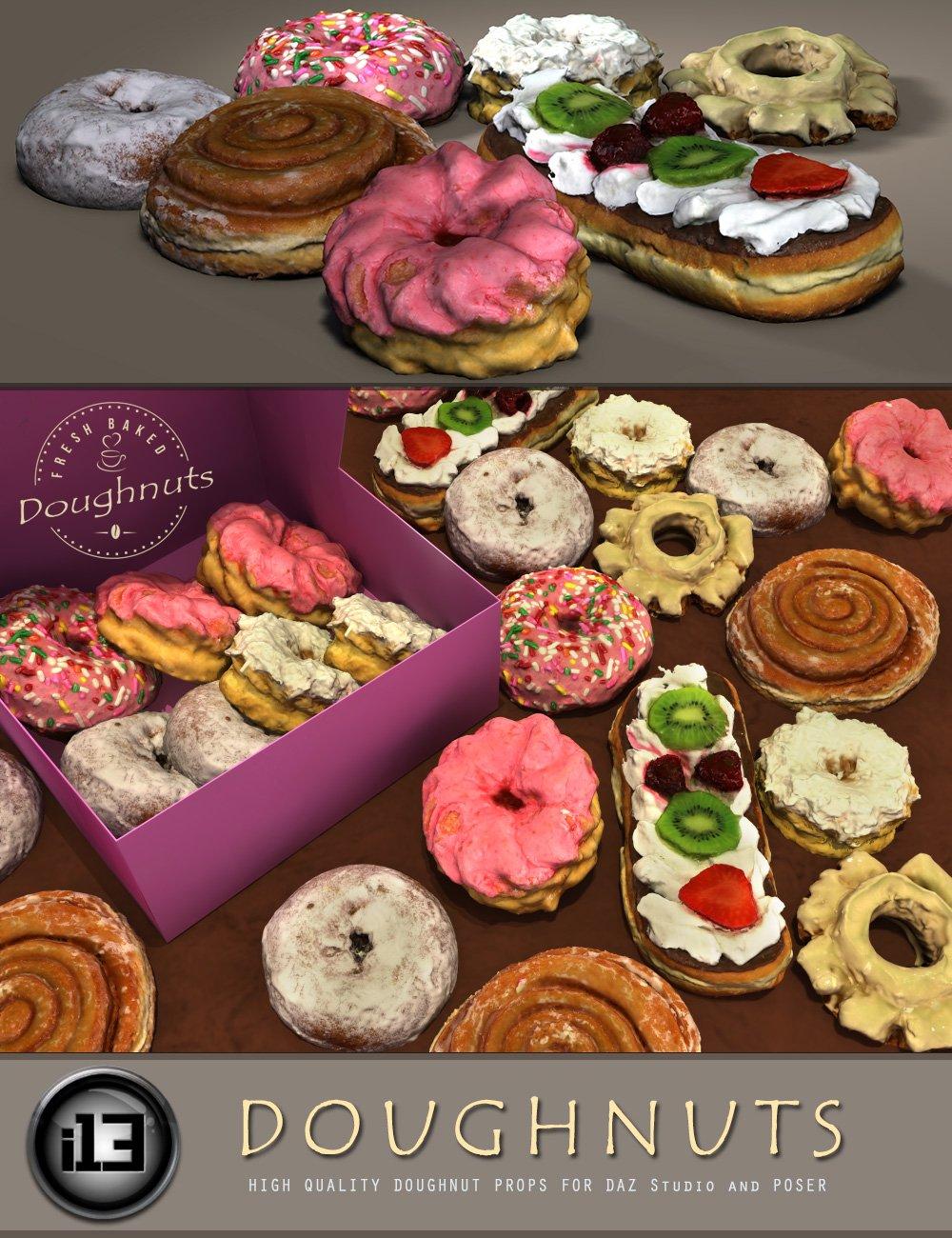 i13 Doughnuts by: ironman13, 3D Models by Daz 3D