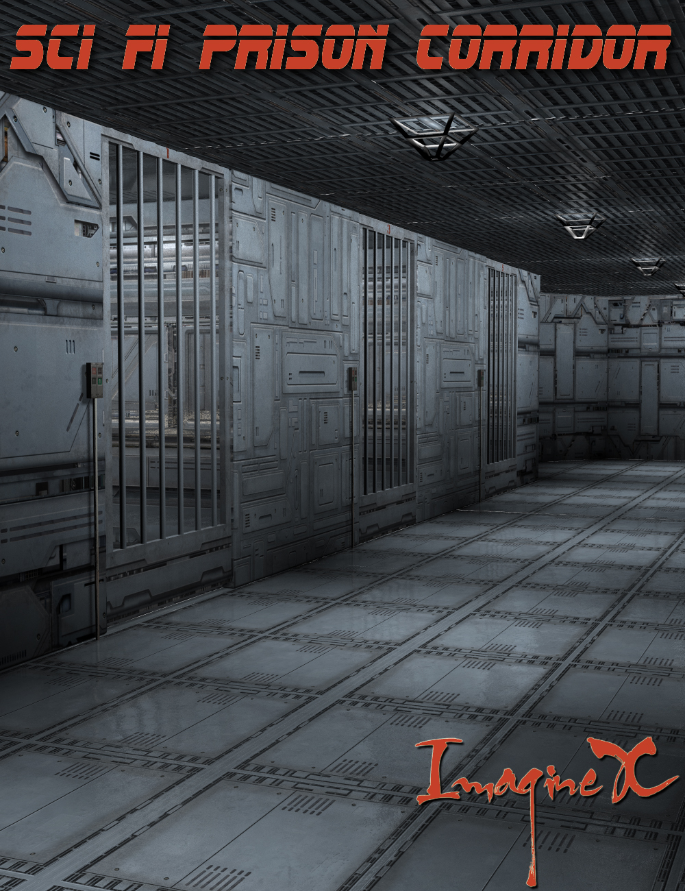 Sci Fi Prison Corridor by: ImagineX, 3D Models by Daz 3D
