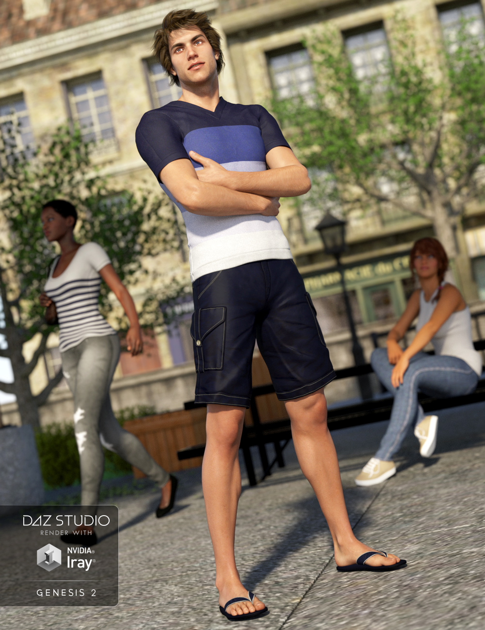Leighton Outfit for Genesis 2 Male(s) by: Nikisatez, 3D Models by Daz 3D