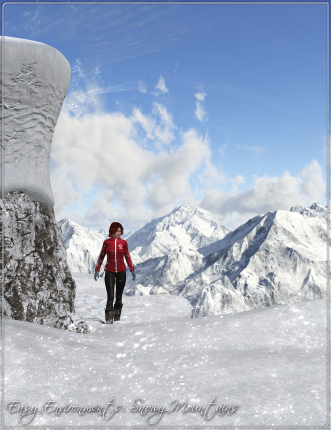 Easy Environments: Snowy Mountains by: Flipmode, 3D Models by Daz 3D