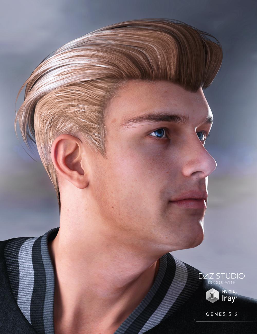 Jake Hair for Genesis 2 Male(s) by: Propschick, 3D Models by Daz 3D