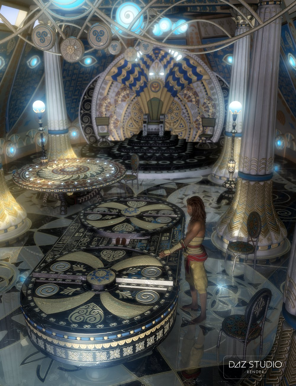 Atlantida Temple Props by: petipet, 3D Models by Daz 3D