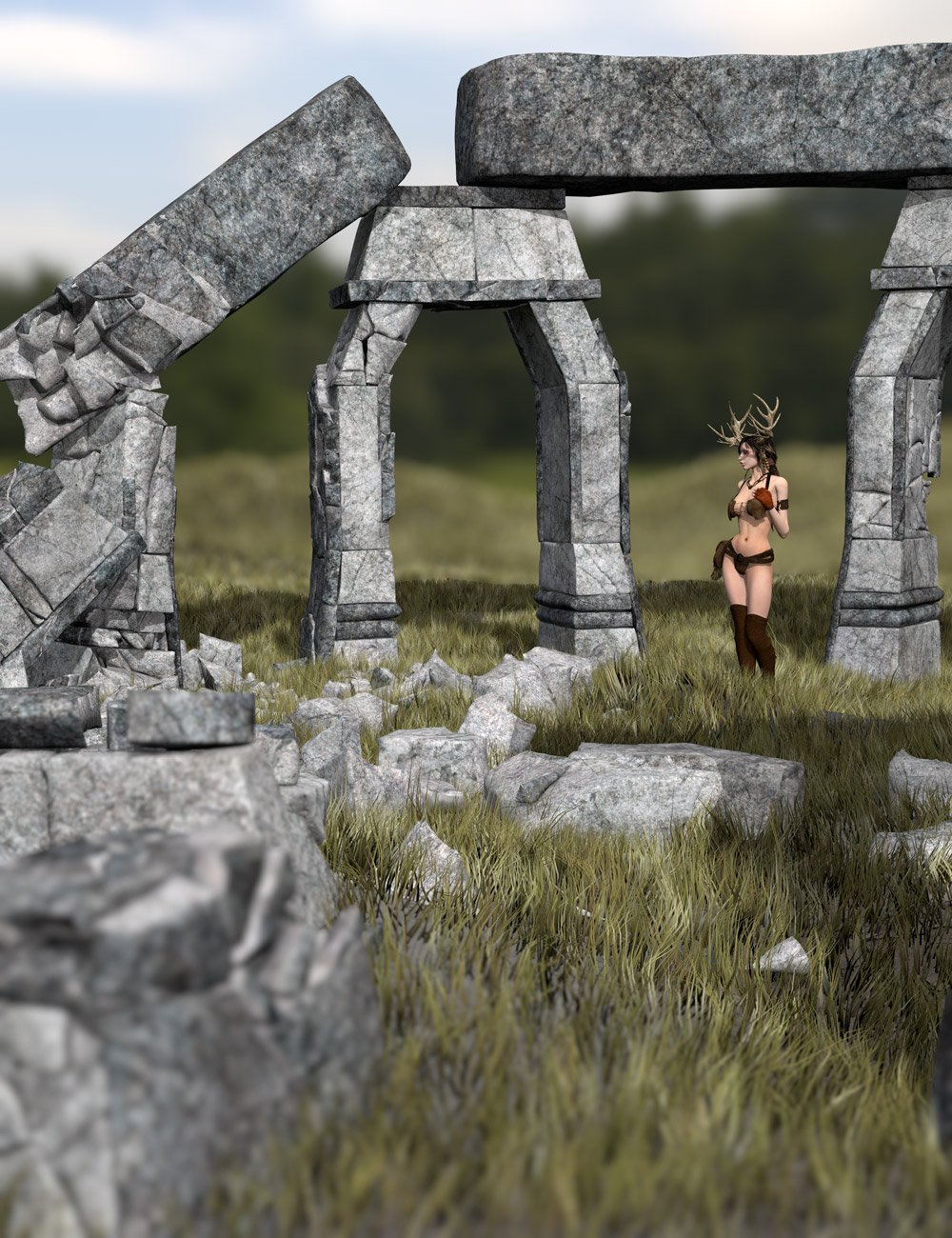 Trilithenge by: Orestes Graphics, 3D Models by Daz 3D