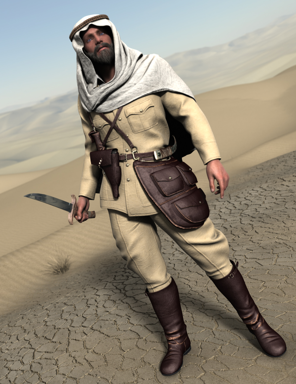 Desert Pathfinders for Genesis 2 Male(s) by: Luthbellina, 3D Models by Daz 3D