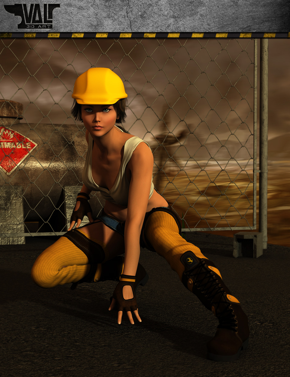 Wasteland Poses by: Val3dart, 3D Models by Daz 3D