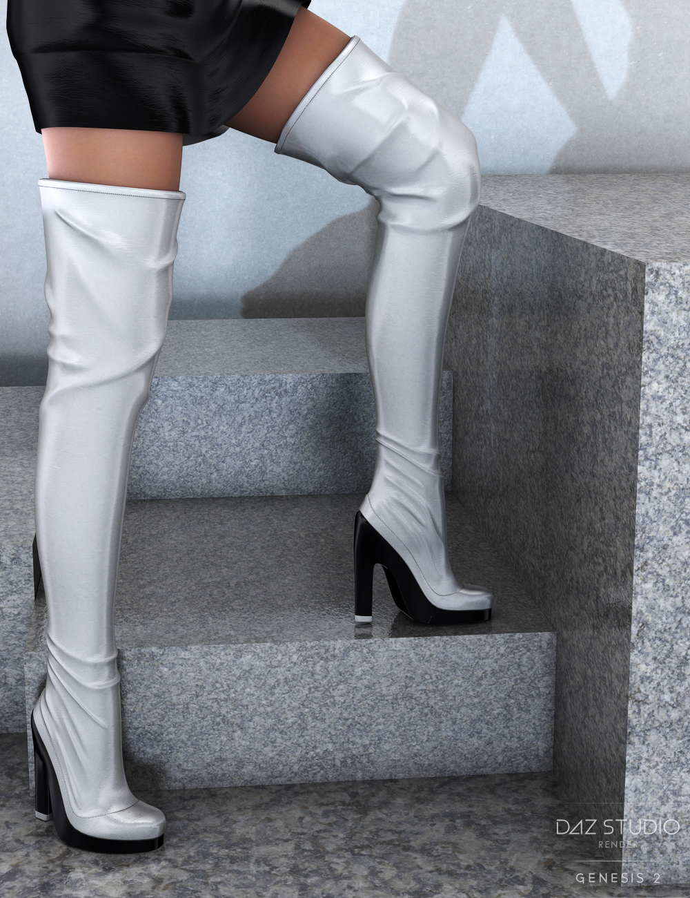 Hot Night Boots for Genesis 2 Female(s) by: PandyGirl, 3D Models by Daz 3D