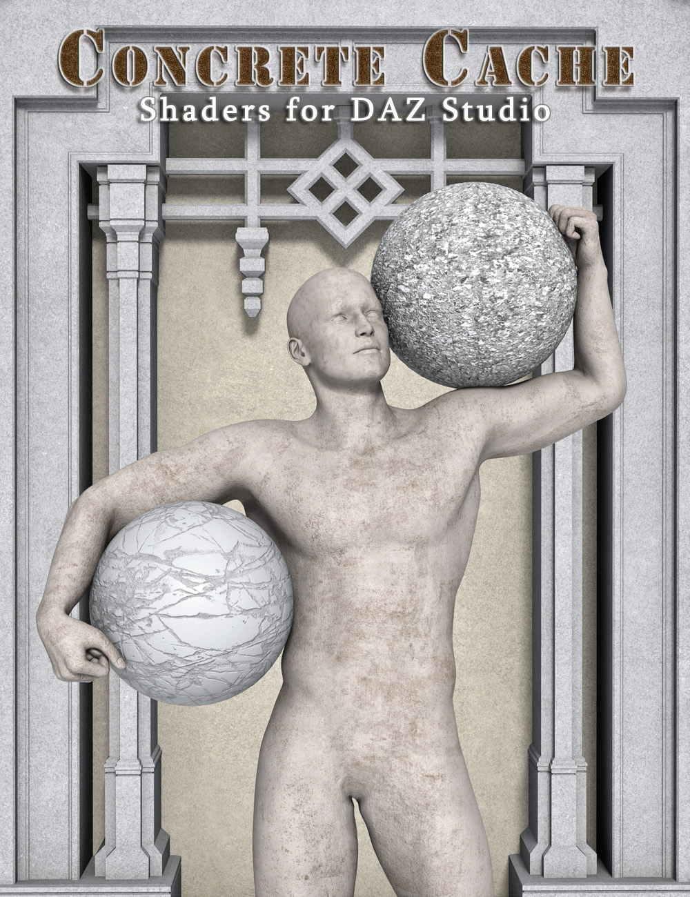 Concrete Cache - Shader Presets for DAZ Studio by: Eva1, 3D Models by Daz 3D
