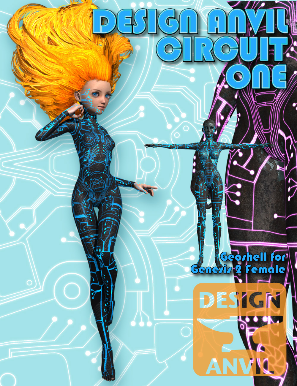DA Circuit One for Genesis 2 Female(s) by: Design Anvil, 3D Models by Daz 3D