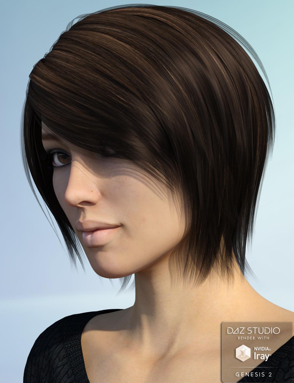 Alyssa Hair for Genesis 2 Female(s) by: Nikisatez, 3D Models by Daz 3D