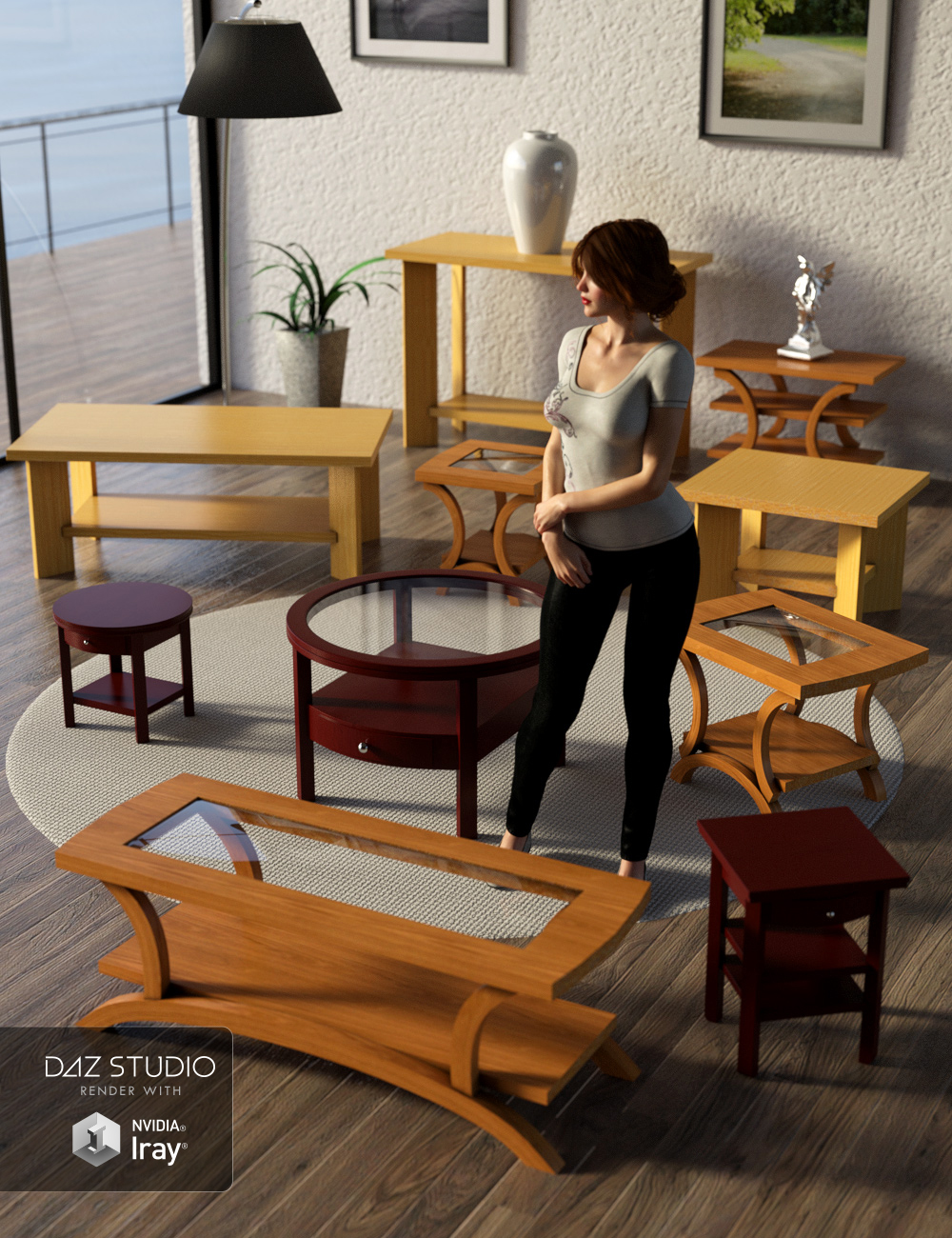 The Living Room Collection 2 by: ARTCollab, 3D Models by Daz 3D