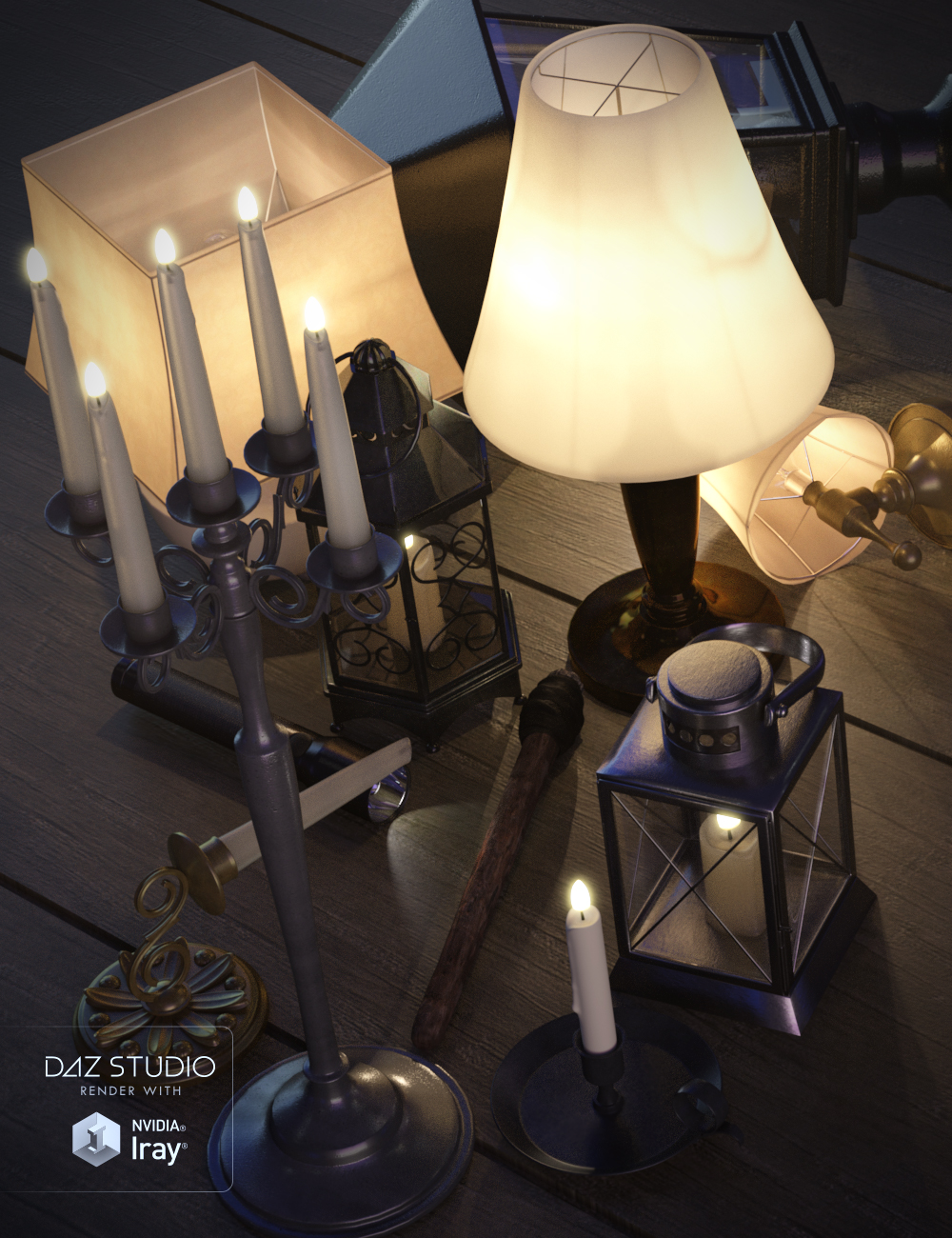 Lighting Collection Prop Set by: Porsimo, 3D Models by Daz 3D