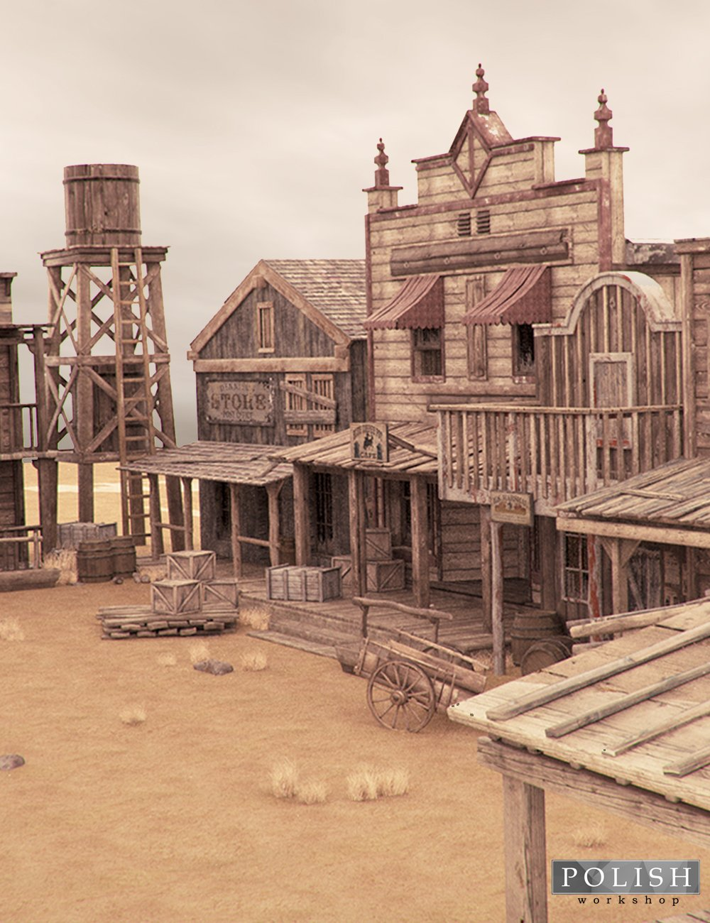 Western Town by: Polish, 3D Models by Daz 3D