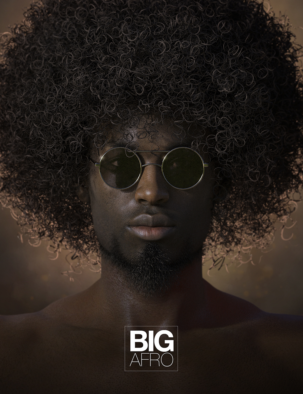 Big Afro Hair for Genesis and Genesis 2 by: Soto, 3D Models by Daz 3D