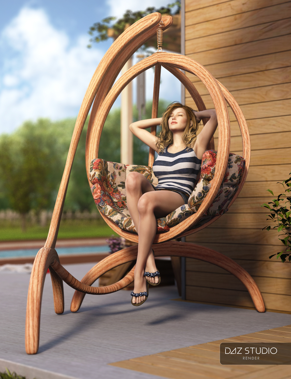 RW Hanging Pod Chair by: Renderwelten, 3D Models by Daz 3D