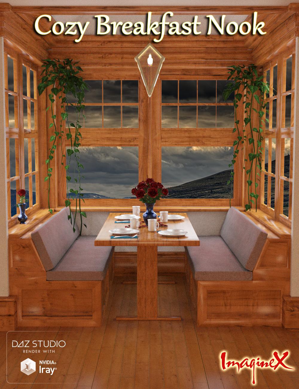 Cozy Breakfast Nook by: ImagineX, 3D Models by Daz 3D