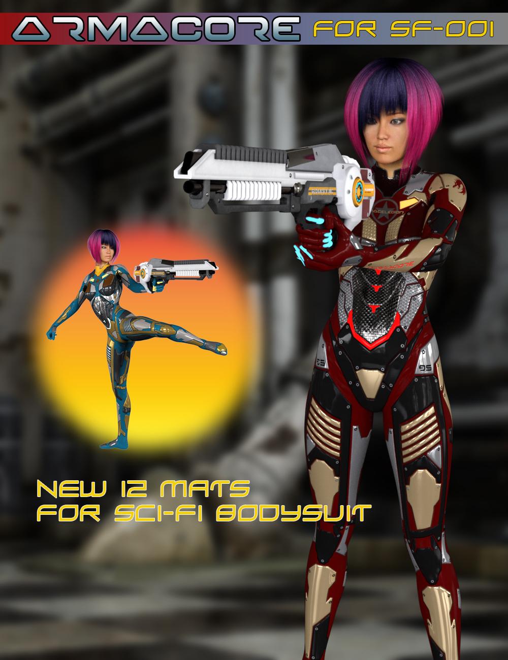 Slide3D Armacore for Sci-Fi Body Suit SF-001 by: Slide3D, 3D Models by Daz 3D