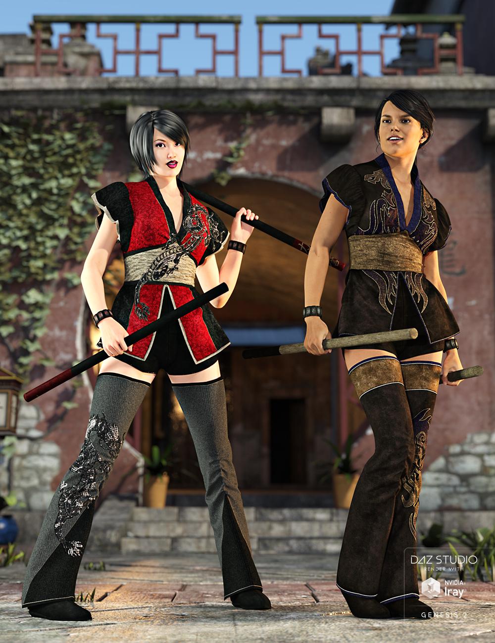 Dragon Rage for Battle Kimono by: Sarsa, 3D Models by Daz 3D
