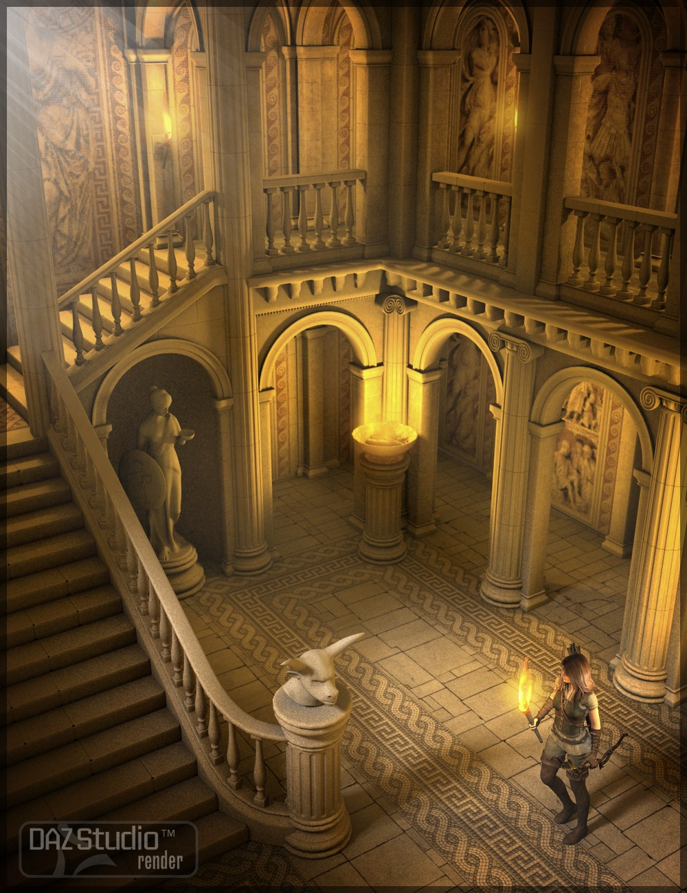 Palace of Knossos by: Merlin Studios, 3D Models by Daz 3D
