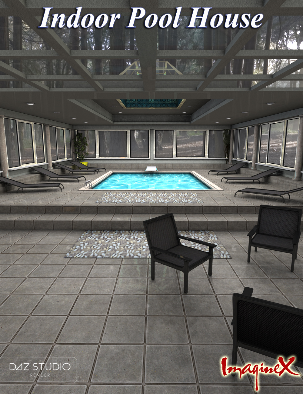 Indoor Pool House by: ImagineX, 3D Models by Daz 3D